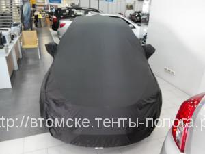 Черный защитный тент-чехол на машину