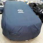 Пошив тента-чехла с логотипом на автомобиль Opel