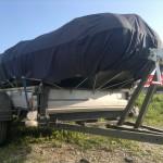 Защитный тент-чехол на лодку ПВХ