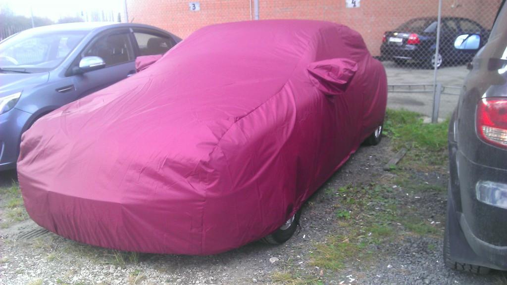 Изготовление укрывного тент на спорткар Jaguar