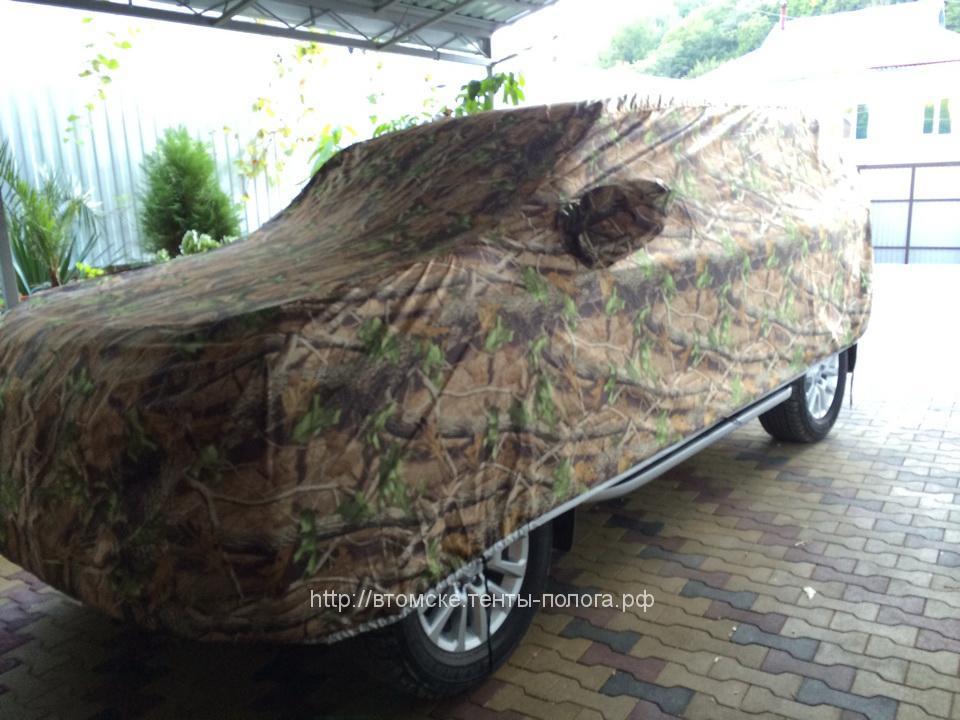 Защитный тент-чехол на автомобиль Toyota Land Cruizer Prado, камуфляж