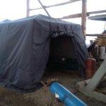 Палатка охотника зимння