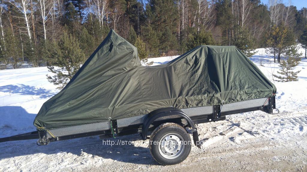 Тент на прицеп для транспортировки снегохода